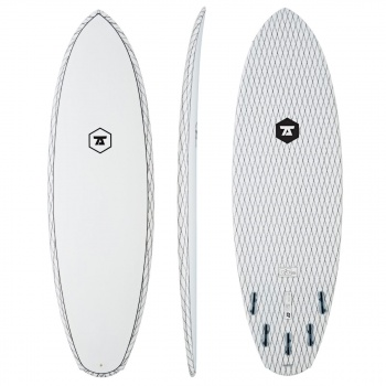 7s 7S DOUBLE DOWN CARBON VECTOR SURFBOARD CLEAR