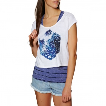 Animal ANIMAL ADELPHA DOUBLE LAYER T-SHIRT DUSTY BLUE MARL