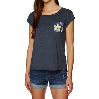Animal ANIMAL AZINA T-SHIRT DARK NAVY MARL
