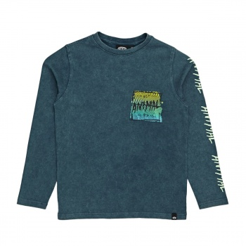 Animal ANIMAL BARSE LONG SLEEVE T-SHIRT LEGION BLUE
