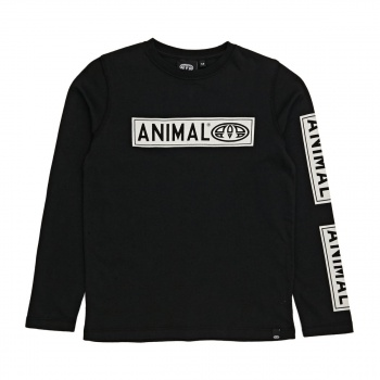Animal ANIMAL BAYOU LONG SLEEVE T-SHIRT BLACK