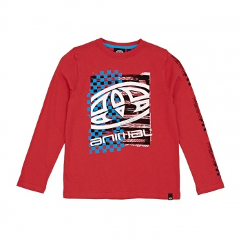 Animal ANIMAL BOARD LONG SLEEVED T-SHIRT MARS RED