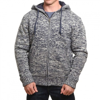 Animal Animal Coldwater Knitted Hoody Stone Grey