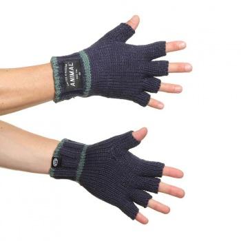 Animal Animal Fars Fingerless Gloves Dark Navy