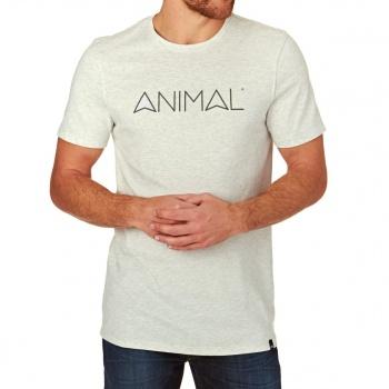 Animal ANIMAL LATIDE T-SHIRT LIGHT GREY MARL