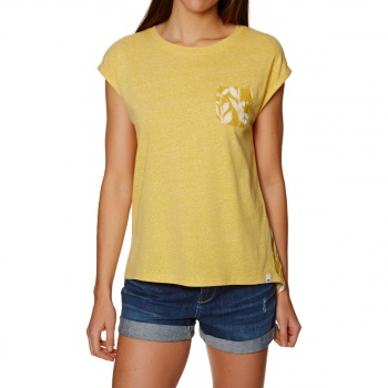 Animal ANIMAL NAUTIC T-SHIRT SUNSHINE YELLOW MARL