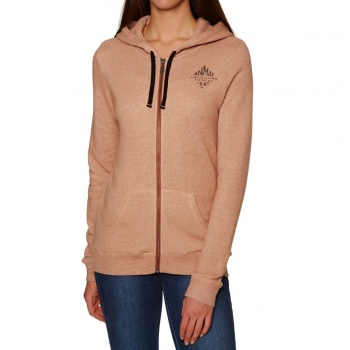 Animal ANIMAL PALMIRA ZIP HOODY TERRACOTTA RED MARL