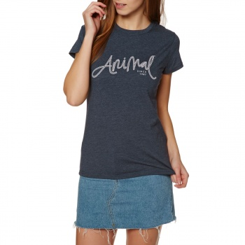 Animal ANIMAL REEL ME IN T-SHIRT DARK NAVY MARL