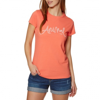 Animal ANIMAL REEL ME IN T-SHIRT MELON ORANGE MARL