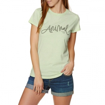 Animal ANIMAL REEL ME IN T-SHIRT MISTY MINT GREEN MARL
