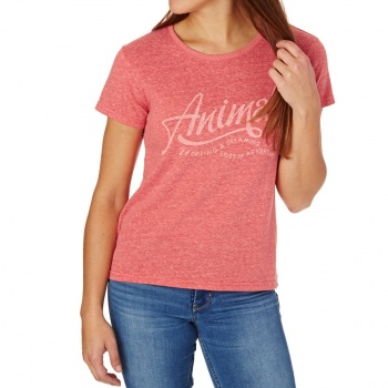 Animal ANIMAL RETREAT T-SHIRT SPORTS RED MARL