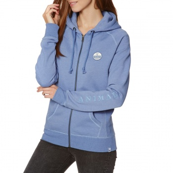 Animal ANIMAL ROO ZIP HOODIE DUSTY BLUE MARL