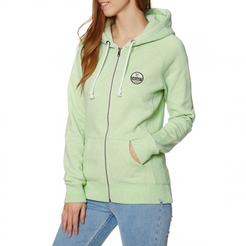 Animal ANIMAL ROO ZIP HOODIE MISTY MINT GREEN MARL