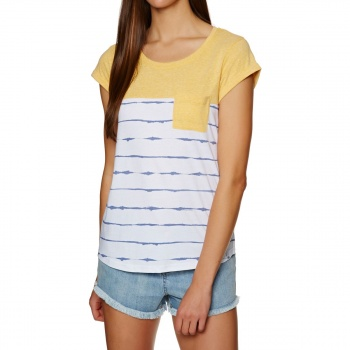 Animal ANIMAL SEA STRIPES T-SHIRT SUNSHINE YELLOW MARL
