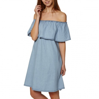 Animal ANIMAL SENORITA DRESS CHAMBRAY BLUE