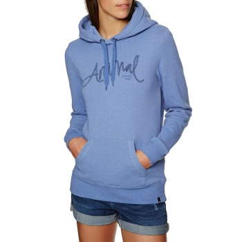 Animal ANIMAL SKETCHED HOODY DUSTY BLUE MARL