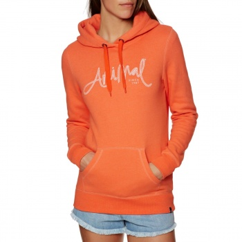 Animal ANIMAL SKETCHED HOODY MELON ORANGE MARL