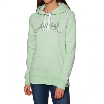 Animal ANIMAL SKETCHED HOODY MISTY MINT GREEN MARL