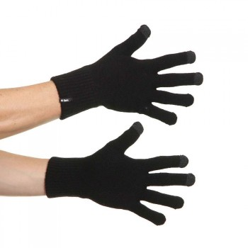 Barts Barts Fine Knitted Touch Screen Gloves Black