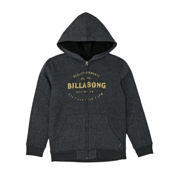 Billabong BILLABONG BREWERY BOYS SHERPA HOODY DARK GREY HEATH