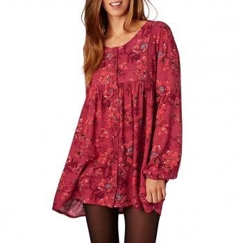 Billabong BILLABONG DAY AND NIGHT DRESS VELVET RED