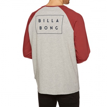 Billabong BILLABONG DIE CUT LONG SLEEVE T-SHIRT GREY HEATHER