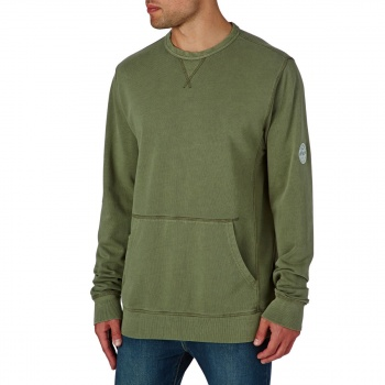 Billabong BILLABONG WAVE WASHED CREW SWEATSHIRT  MILITARY