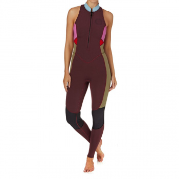 Billabong BILLABONG WOMENS SALTY JANE 2MM 2018 SLEEVELESS FRONT ZIP WETSUIT MULBERRY