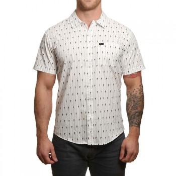 Brixton Brixton Charter Short Sleeve Shirt White/Black