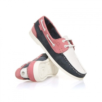 Chatham Chatham Willow Shoes Navy/White/Coral