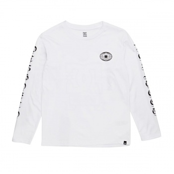 DC DC ARISE COLLECTIV LONG SLEEVE T-SHIRT SNOW WHITE