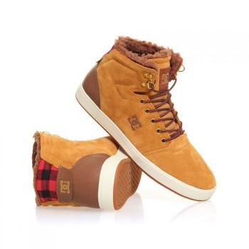DC DC Crisis High WNT Shoes Wheat/Dark Choc