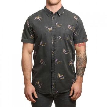 Globe Globe Split Shirt Vintage Black