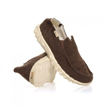Dude Hey Dude Farty Chalet (fur Lined) Shoes Choco Felt
