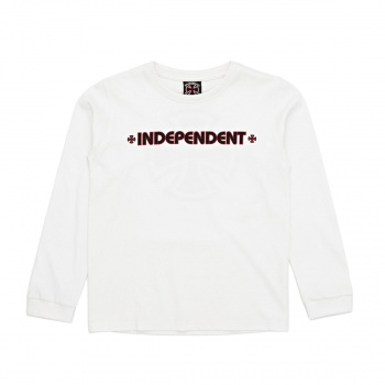 Independent INDEPENDENT BAR CROSS LONG SLEEVED T-SHIRT WHITE
