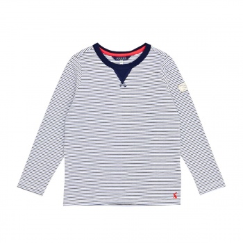 Joules JOULES BRETON LONG SLEEVE T-SHIRT DAZZLING BLUE STRIPE