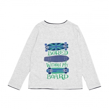 Joules JOULES FINLAY LONG SLEEVE T-SHIRT GREY MARL