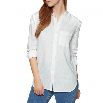 Joules JOULES JEANNE LONG SLEEVE SHIRT BRIGHT WHITE