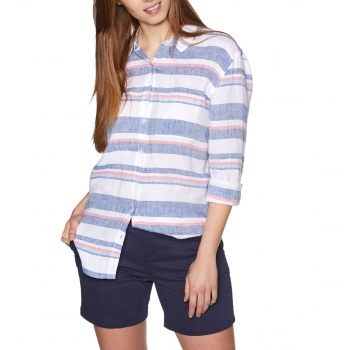 Joules JOULES JEANNE PRINT LONG SLEEVE SHIRT BLUE RED STRIPE