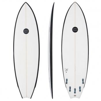 Maluku MALUKU FISH CAKE MKII SURFBOARD  WHITE / BLACK RAIL