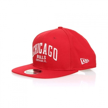 New Era New Era Chicago Bulls Felt Script Snapback Cap Red