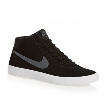 Nike Skateboarding NIKE SKATEBOARDING WOMENS BRUIN HI SHOES BLACK/DARK GREY/WHITE