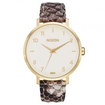 Nixon NIXON ARROW LEATHER WATCH GOLD / TAUPE / AMUSE