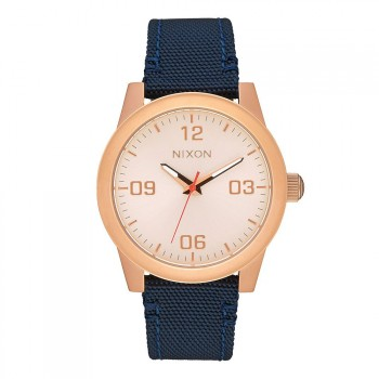 Nixon Nixon G.I. Nylon Watch Rose Gold/Navy