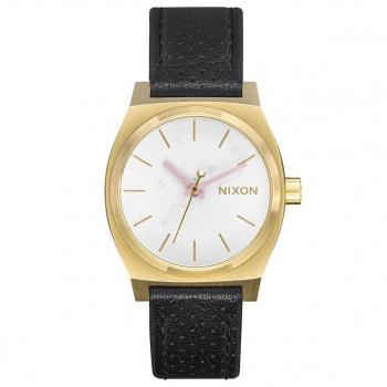 Nixon NIXON MEDIUM TIME TELLER LEATHER WATCH GOLD/SOFT PINK