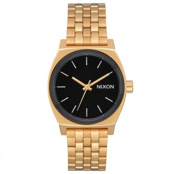 Nixon NIXON MEDIUM TIME TELLER WATCH  GOLD / BLACK / WHITE