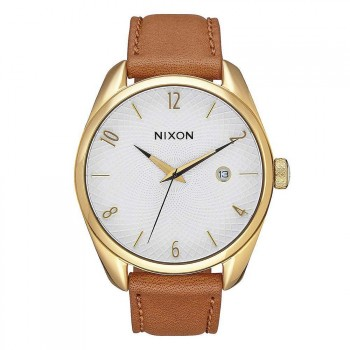 Nixon Nixon The Bullet Leather Watch Gold/Saddle