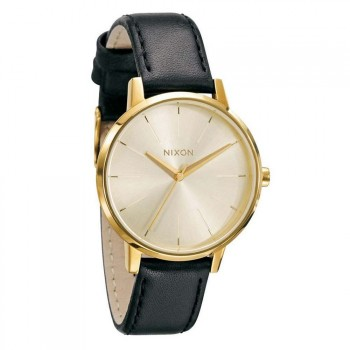 Nixon NIXON THE KENSINGTON LEATHER WATCH Gold
