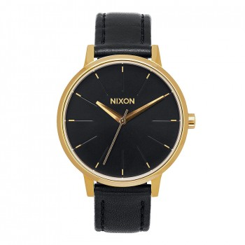Nixon Nixon The Kensington Leather Watch Gold/Black