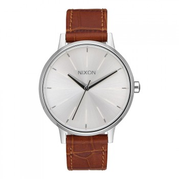 Nixon Nixon The Kensington Leather Watch Silve/Sad Gator